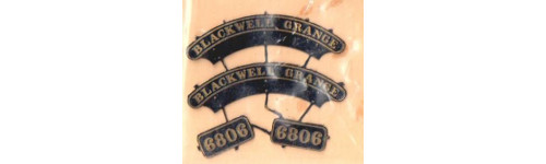 Manor, Grange & Hall Class GWR Nameplates
