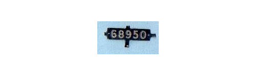 LNER 4mm Smokebox Number Plates